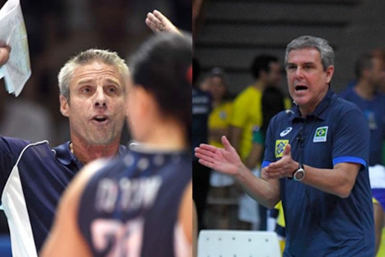 José Roberto Guimarães e Karch Kiraly: técnicos com muitos títulos no vôlei mundial