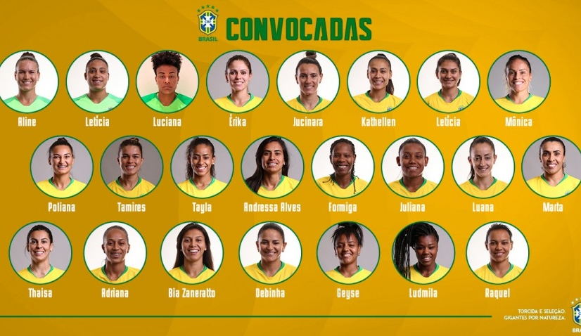 Veja lista das convocadas para último torneio da Seleção Brasileira feminina antes da Copa do Mundo 2019