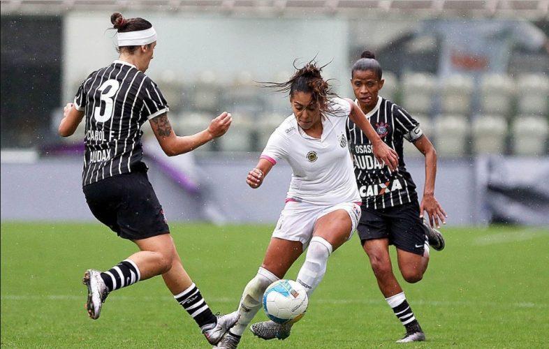 """Corinthians x Santos em jogo válido pelo Brasileirão A1 feminino; os dois times chegam como fortes candidatos ao título no Brasileir""""ao feminino de 2019"""