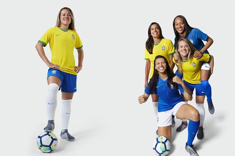 Uniforme exclusivo da Seleção Brasileira feminina de futebol para a Copa do Mundo da França, em junho de 2019