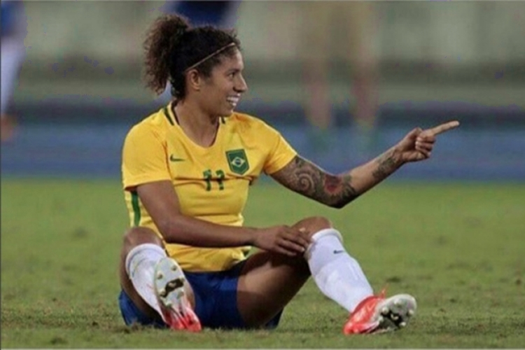 Cristiane atacante da Seleção Brasileira disputa a quinta Copa do Mundo dela na França, em 2019
