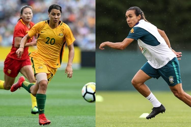 Austrália-Brasil-Sam Kerr-Marta