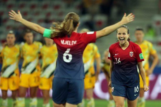 Noruega-x-Austrália-oitavas de final-Copa do Mundo feminina