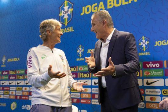 Pia Sundhage é apresentada na CBF como nova técnica da Seleção Brasileira feminina de futebol