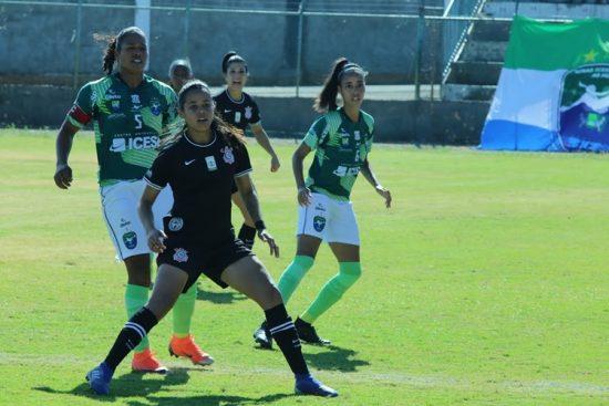 Victória Albuquerque, acatante do Corinthians arrebentou no reencontro com o ex-time Minas Icesp DF no Estádio Abadião, em Ceilândia, pelo Campeonato Brasileiro feminino