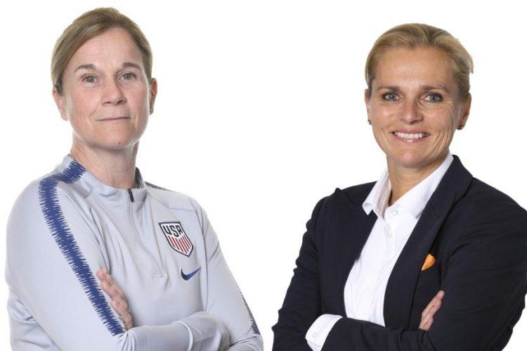 Jill Ellis, técnica dos Estados Unidos, enfrenta a técnica Sarina Wiegman, da Holanda, na final da Copa do Mundo feminina na França