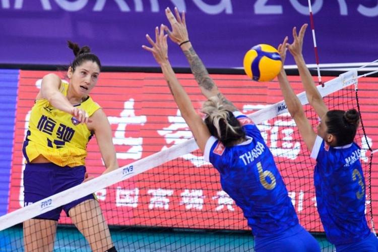 Minas perde na estreia do Mundial de Clubes de vôlei em 2019 para o Guangdong, da China