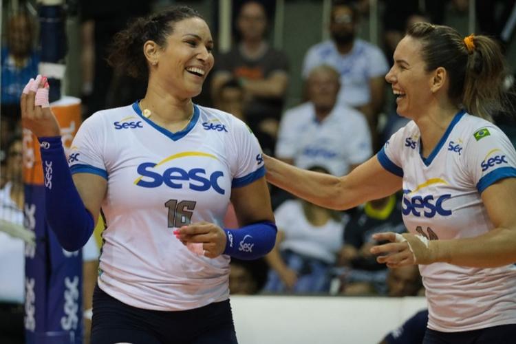 Além do Sesc/Rio de Janeiro, Tandara e Fabíola já atuaram juntas pela Força Olímpica, de Brasília, pelo Osasco e pela Seleção Brasileira