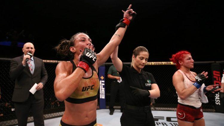 Amanda Ribas vence a norte-americana Randa Markos no peso-palha do UFC Brasília