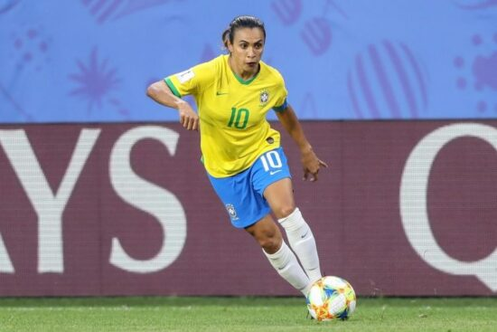 Marta foi cortada de amistosos da da Seleção Brasileira Feminina de futebol por ter testado positivo para covid-19