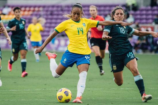 Seleção Brasileira vence a Argentina, por 4 x 1, no Torneio She Believes, nos Estados Unidos