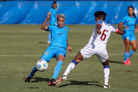 Real Brasília, da atacante Gadu, empata com o Bahia, da lateral Luana, em jogo válido pelo Brasileirão Feminino A1