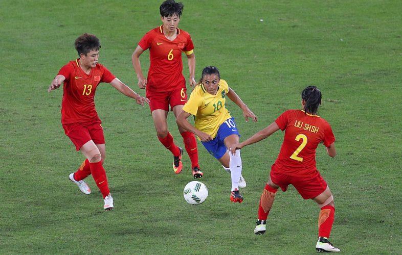 Nas Olimpíadas do Rio-2016, Brasil venceu a China por 3 x 0