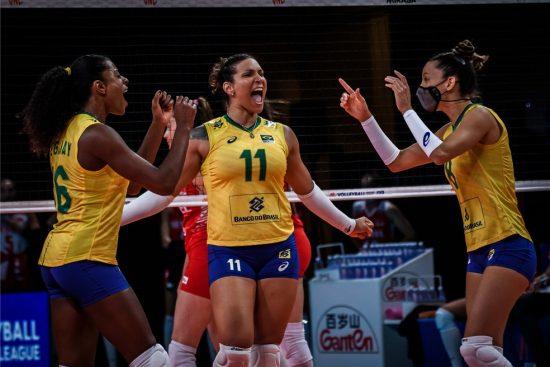 Tandara é a dona do ataque mais potente da Seleção Brasileira feminina de vôlei nos Jogos Olímpicos de Tóquio