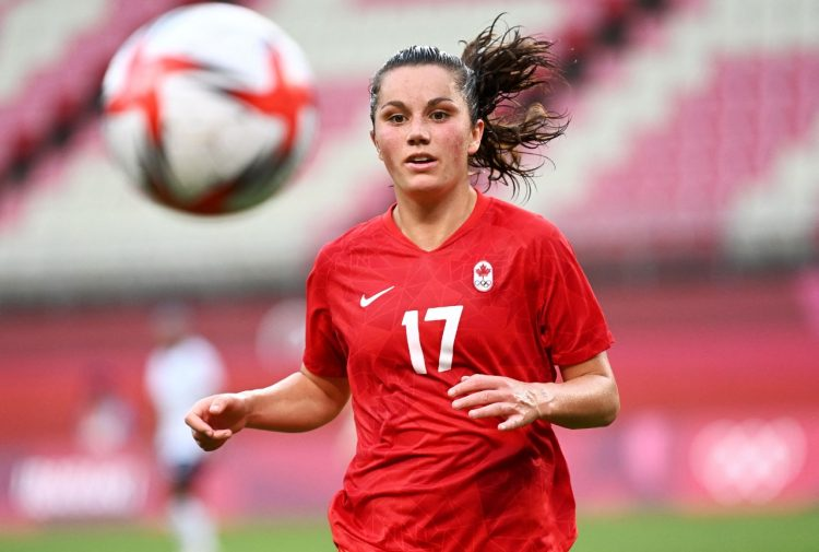 Jogadora do Canadá nos Jogos Olímpicos de Tóquio