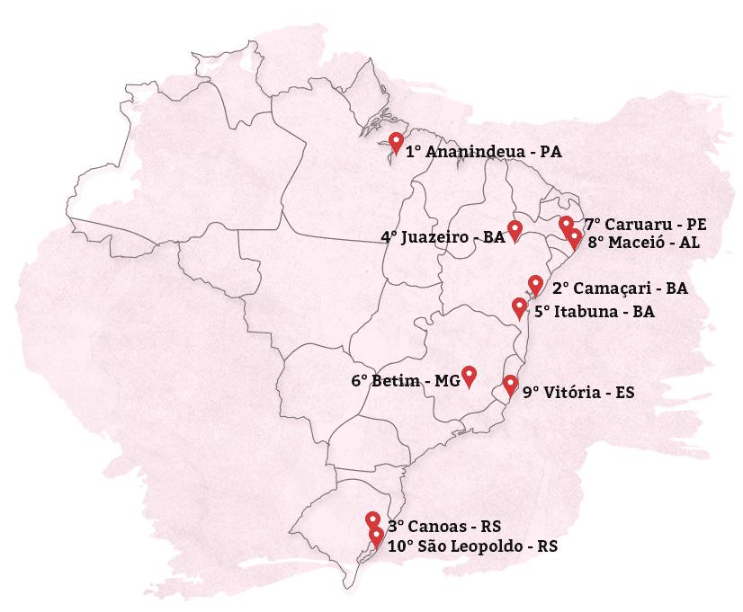 Este é o novo Mapa da Violência contra as Mulheres Brasileiras: As cidades mais feminicidas do país.