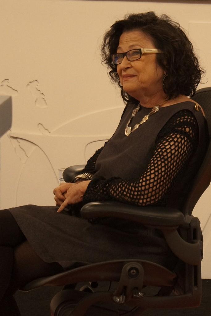 Gabriela Leite em entrevista no programa Roda Viva, da TV Cultura, em 2009.