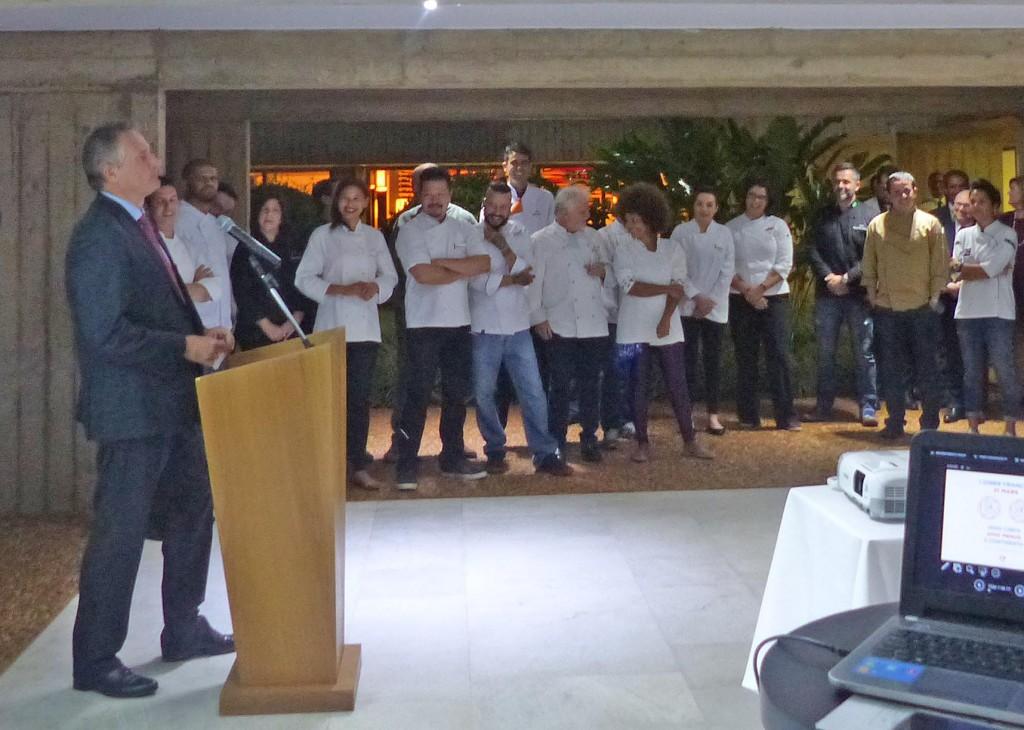 """Laurent Bili na apresentação do evento: """"A gastronomia é um momento de partilhar"""""""