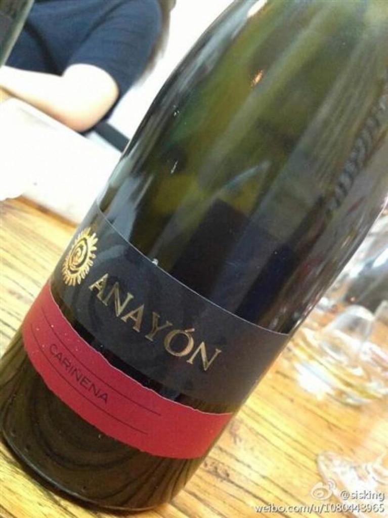 Arquivo Pessoal/Divulgação. Vinho Anayon Cariñena do restaurante Tejo.