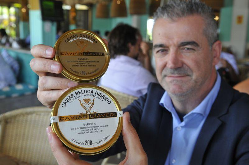 16/01/2018. Credito: Minervino Junior/CB/D.A. Press. Brasil. Brasilia - DF. Eurico Soffi, importador do caviar servido no Restaurante Sallva.