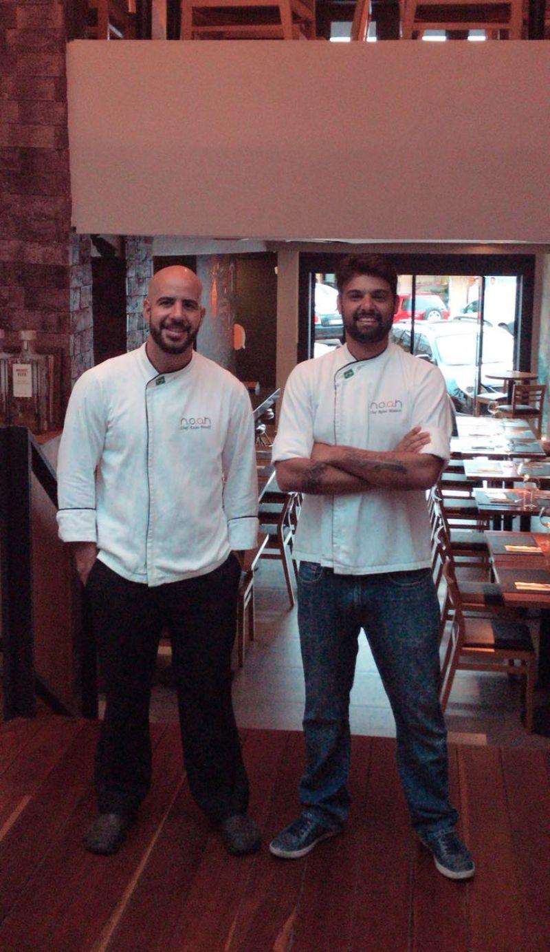 Arquivo Pessoal/Divulgação. Chefs Enzo Pacelli e Rafael Madeira, do Noah.
