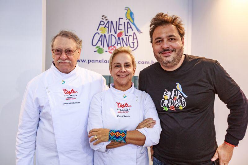 Francisco, Mara e Gil no evento de São Paulo