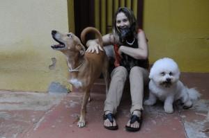 Cássia manténm oito péts em casa:felicidade plena.Foto Zuleika de Souza/CB/DA Press