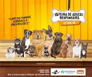 cartaz da feira pet de adoção responsável