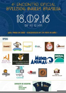 cartaz do evento pet 4 Encontro oficial de Bulldog Ingles