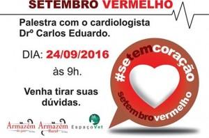 cartaz sobre palestra sobre cuidados com o coração dos pets no Armazém Rural