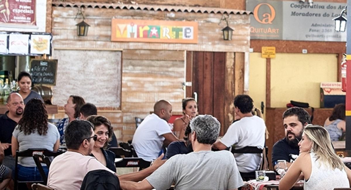 14/11/2015. Crédito: Raimundo Sampaio/Encontro/D.A Press. A Quituart é um reduto da boa gastronomia no Lago Norte.