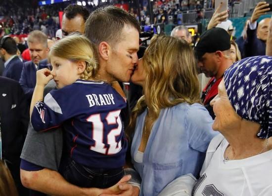 O casal estelar Tom Brady e Gisele Bündchen