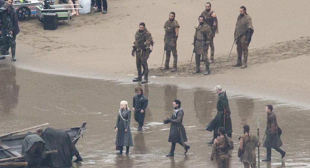 Set de filmagem de Game of thrones