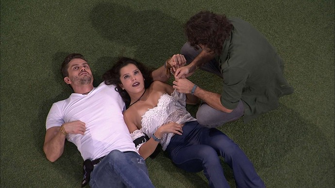 Marcos, Emilly e Ilmar no BBB 17