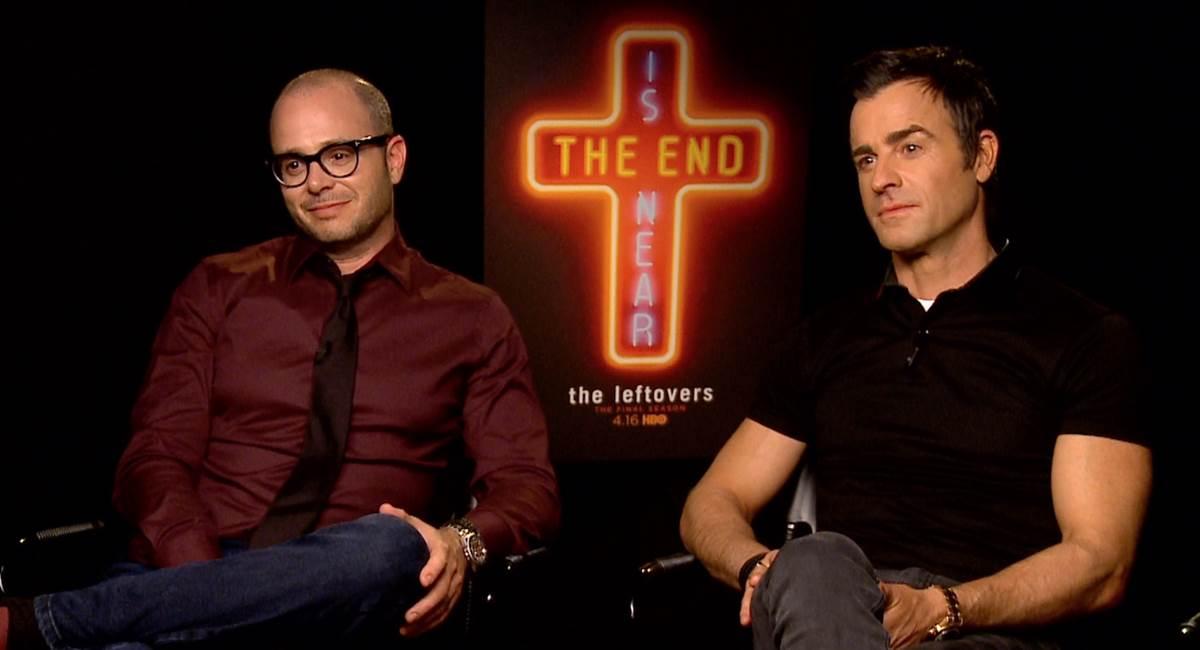 Damon Lindelof e Justin Theroux em coletiva sobre o final de The leftovers