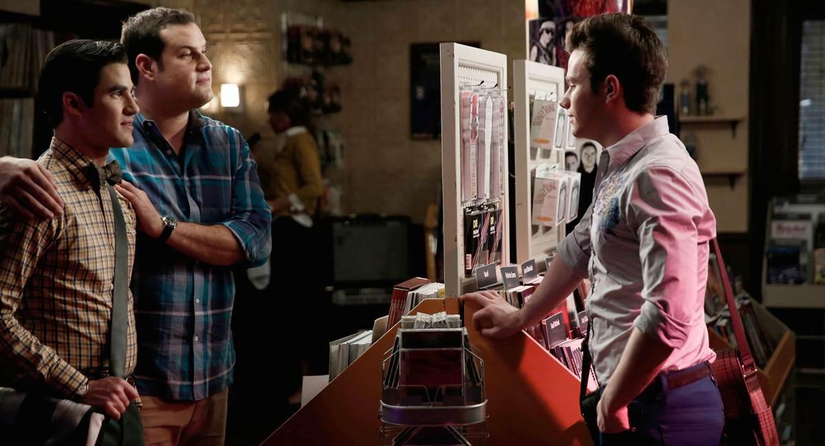Blaine, Karofsky e Kurt, alguns dos personagens LGBTs de Glee