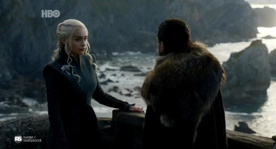 Daenerys e Jon em The queen's justice