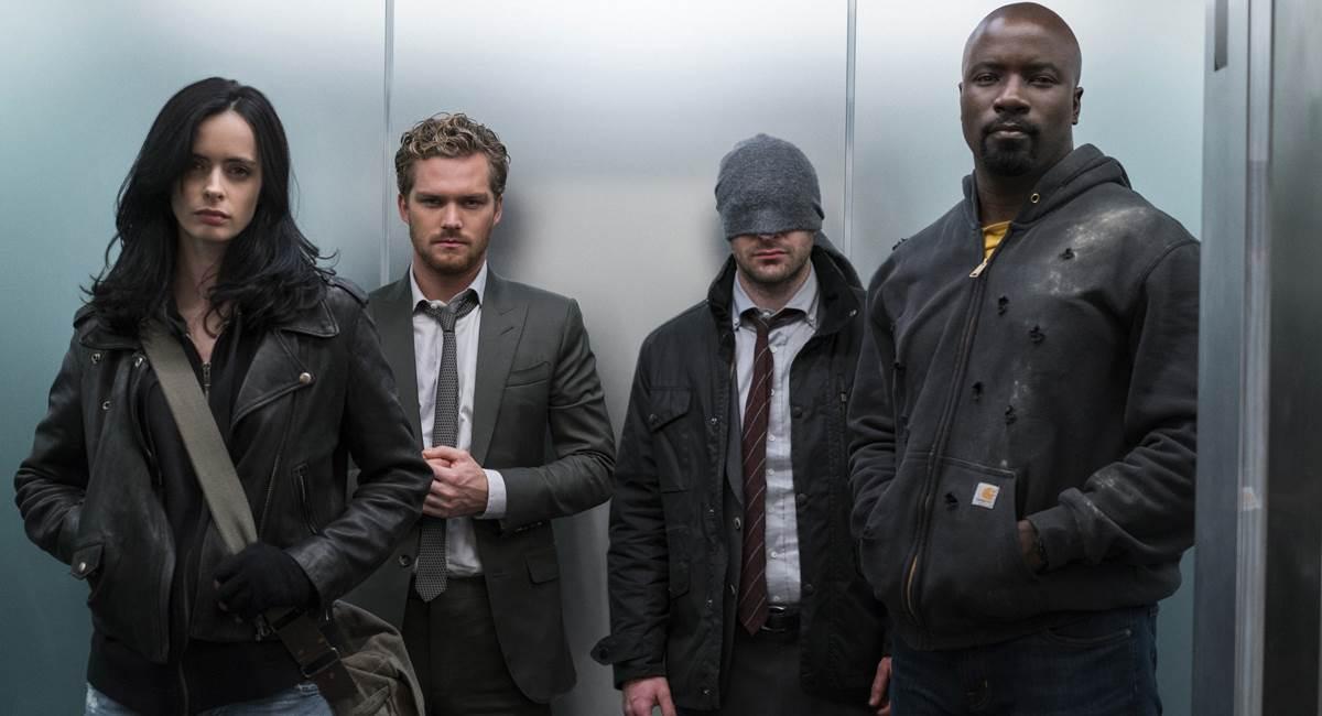 Cenas da primeira temporada da série Os Defensores da Netflix
