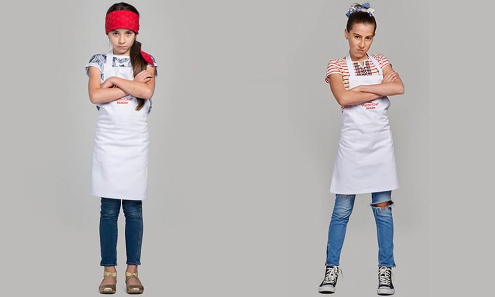 Ivana e Sofia em imagem do MasterChef Junior