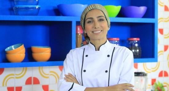 Nutricionista Andrea Santa Rosa no programa Cozinhadinho