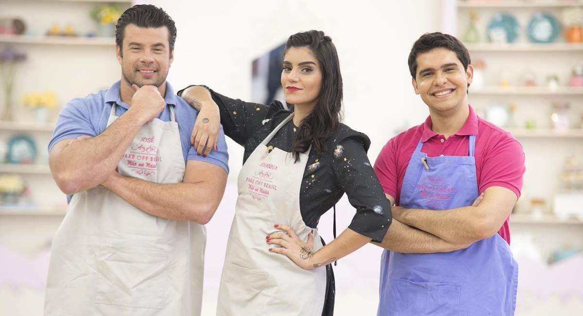 Trio de finalistas da terceira temporada de Bake off Brasil
