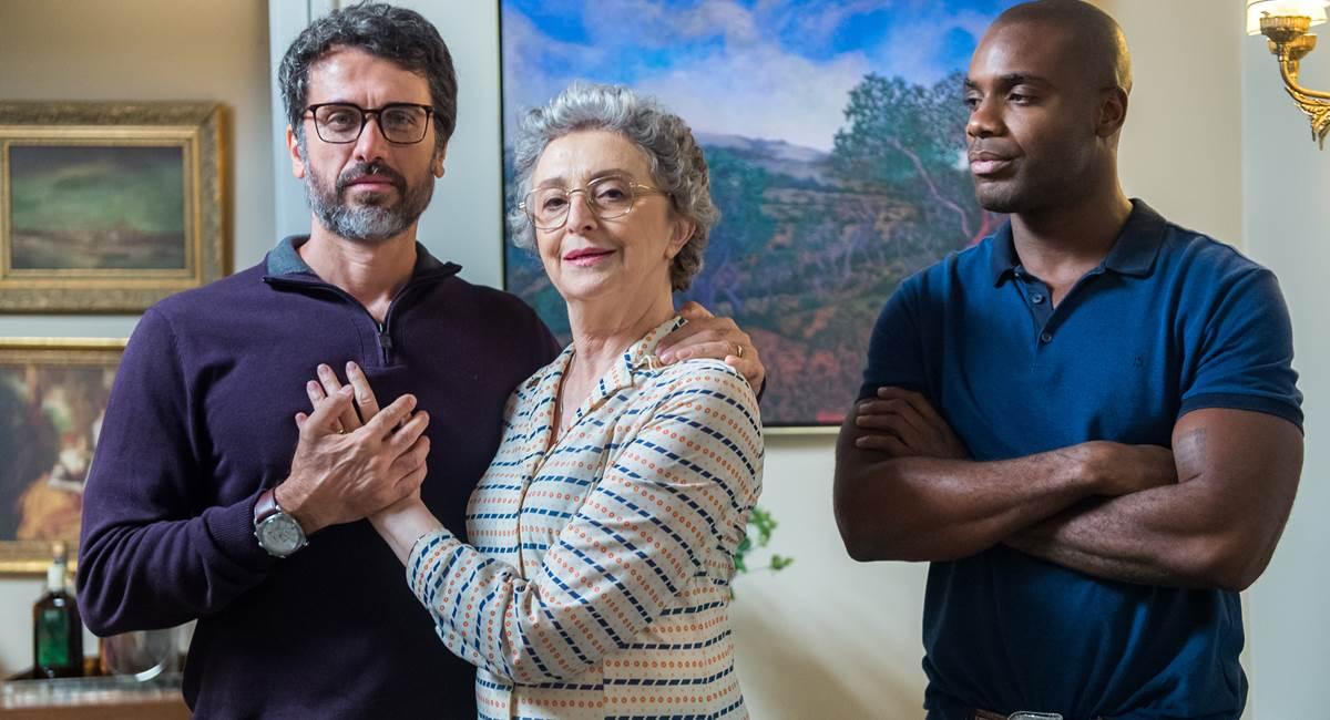 Eriberto Leão, Ana Lúcia Torre e Rafael Zulu em O outro lado do paraíso