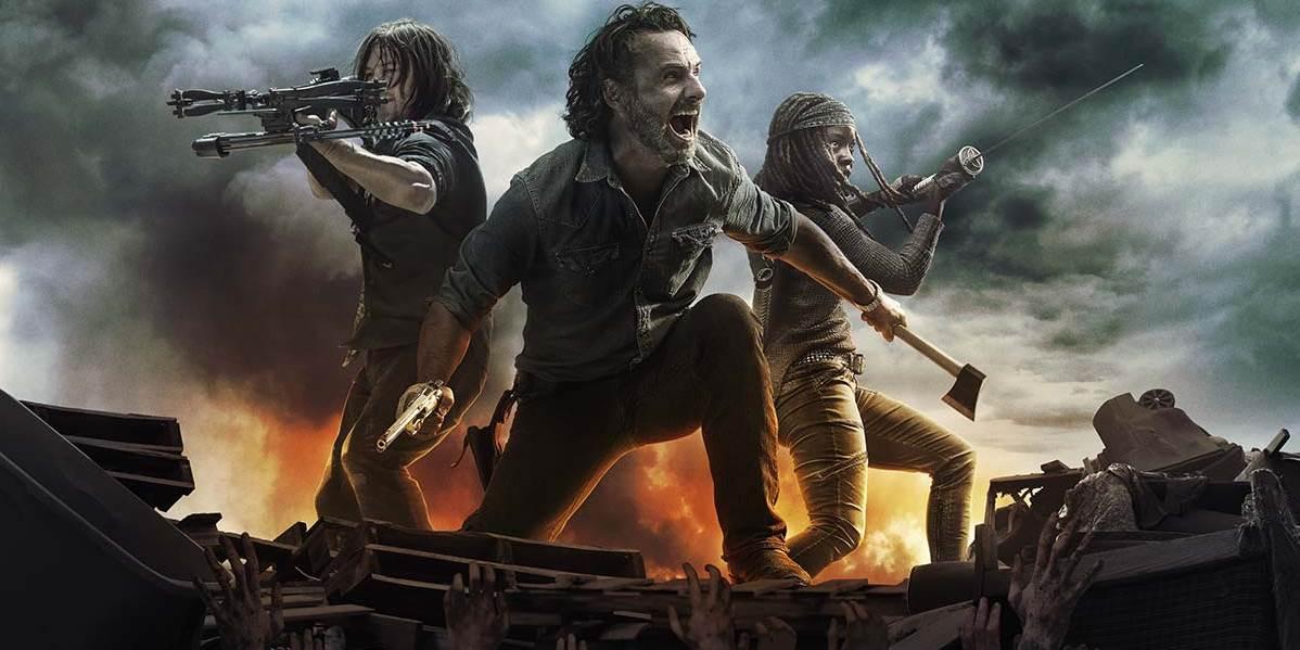Cena da oitava temporada de The Walking Dead.