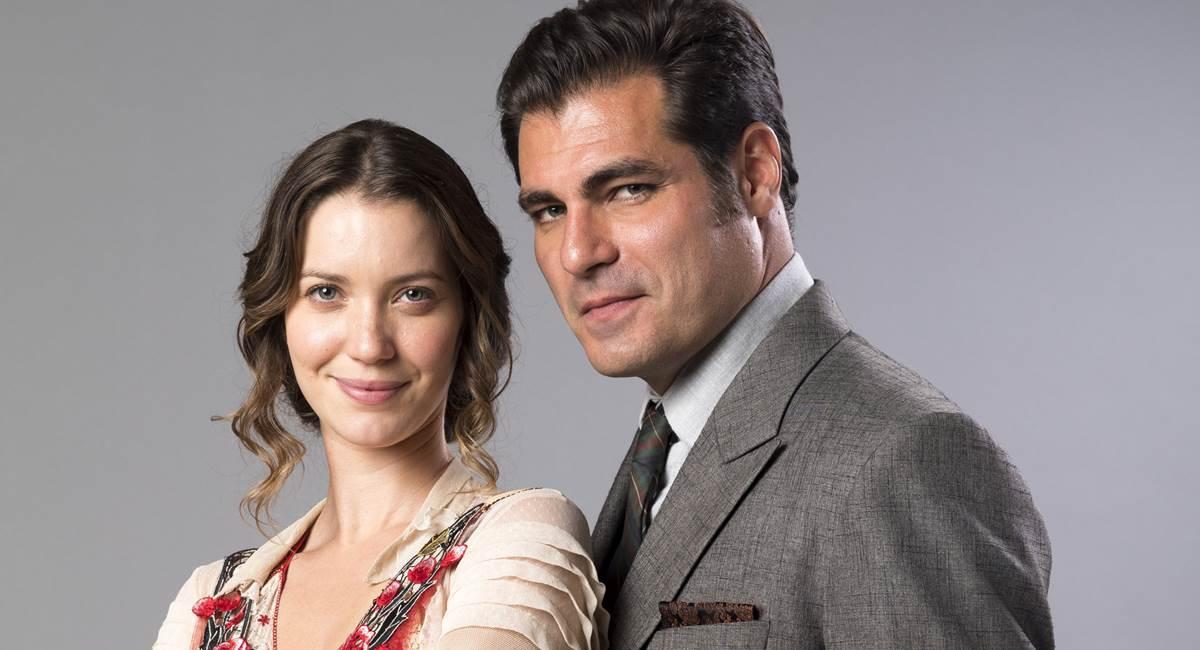 Darcy (Thiago Lacerda) e Elisabeta (Nathalia Dill)