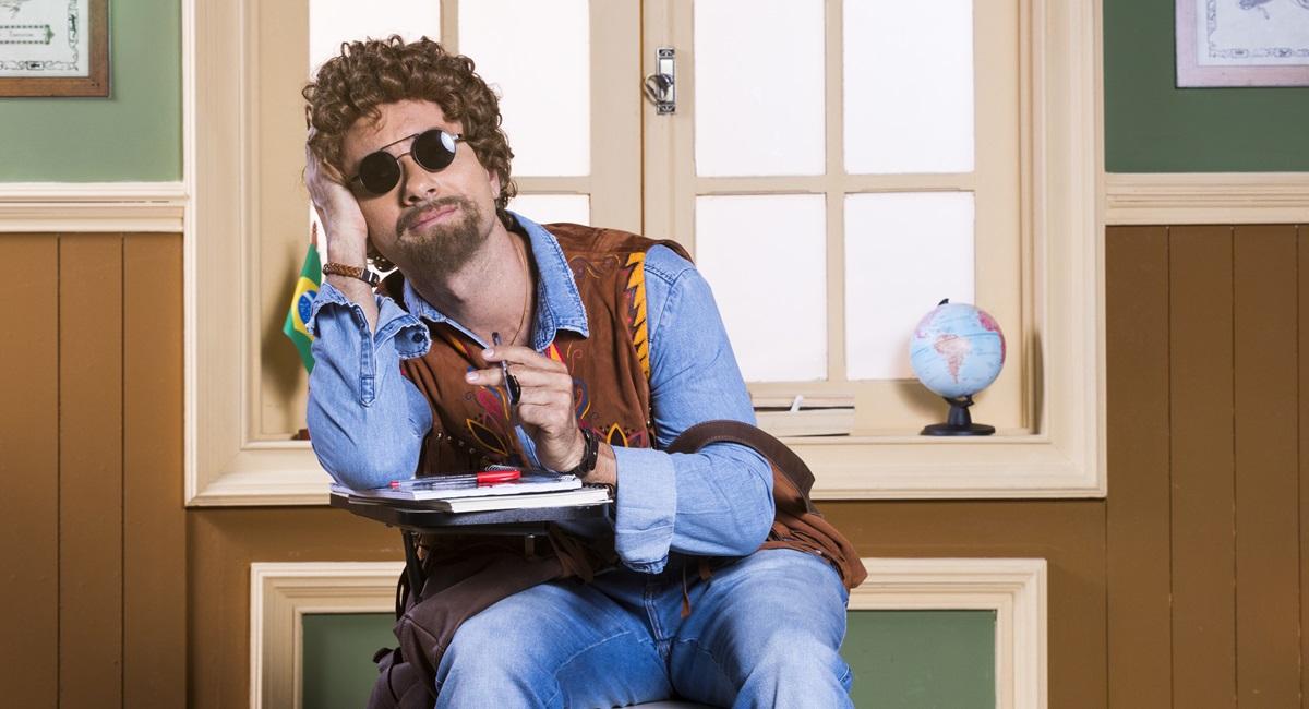 Marco Luque como Patropi na Escolinha do Professor Raimundo