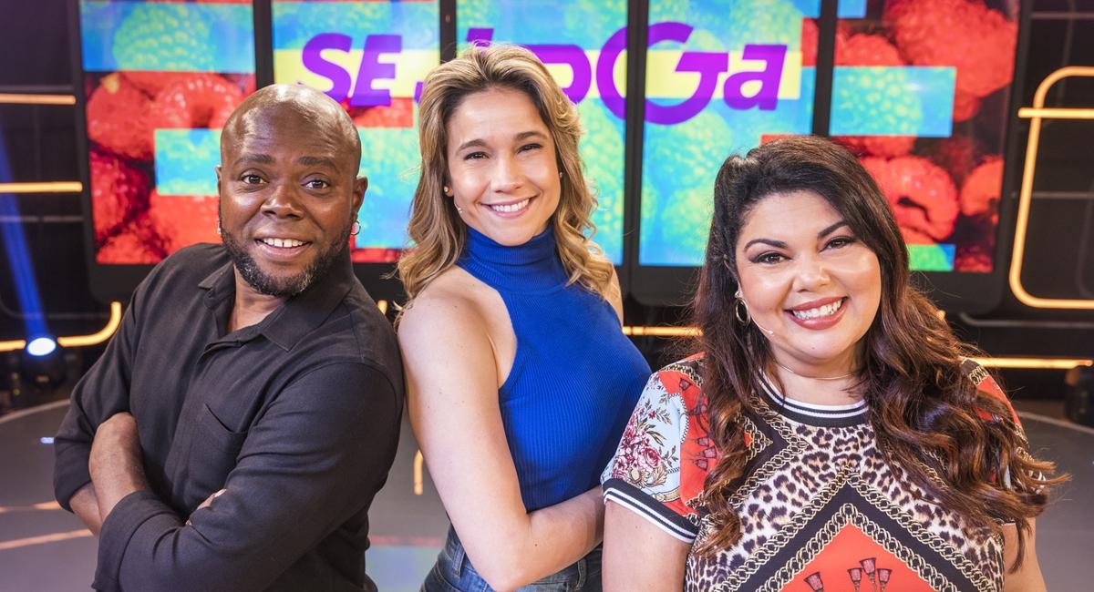 Érico Brás, Fernanda Gentil e Fabiana Karla à frente do Se joga