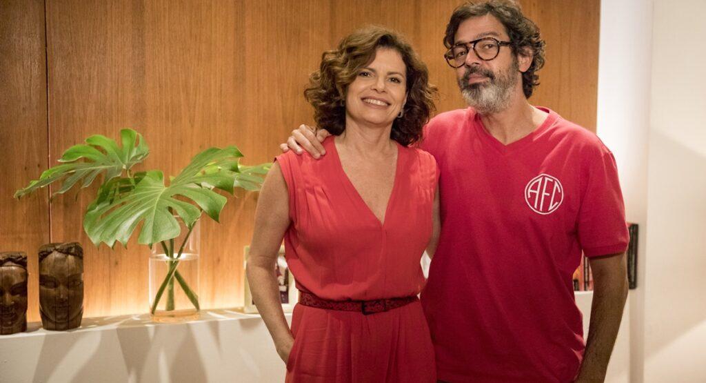Débora Bloch e Bruno Mazzeo em cena do especial de fim de ano de Diário de um confinado