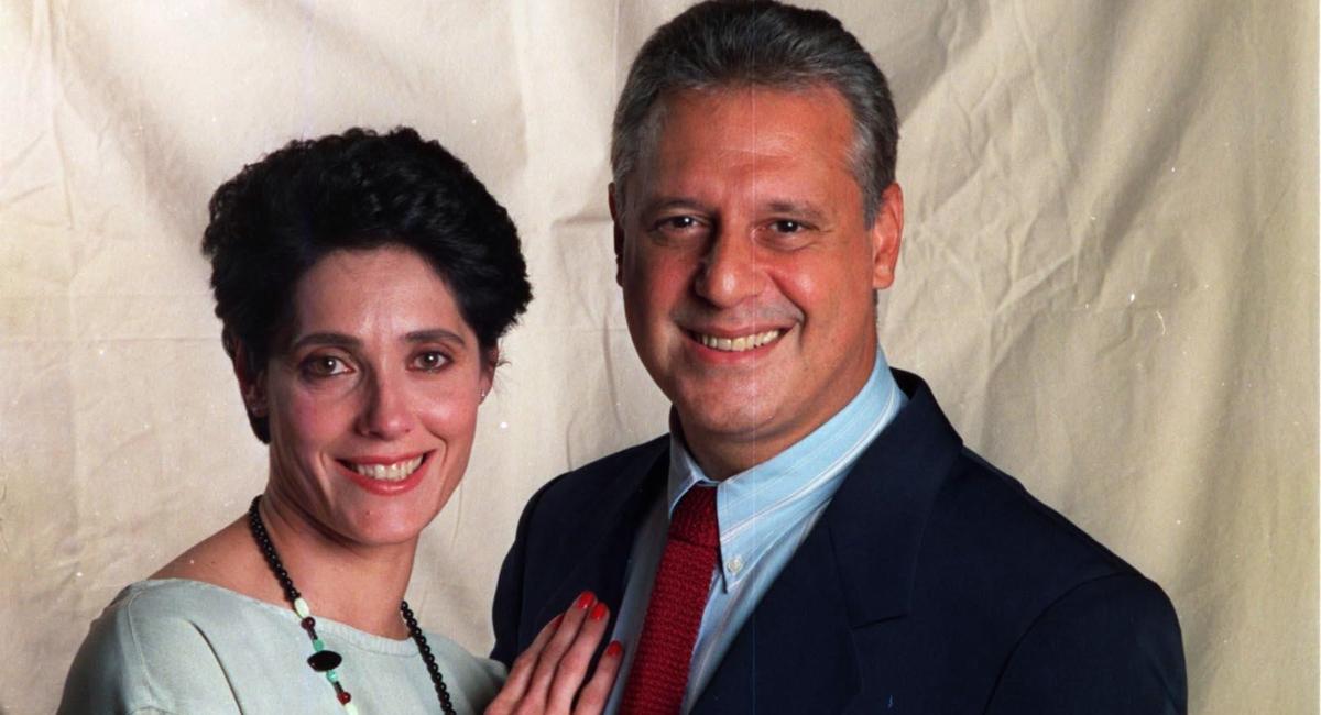 Christiane Torloni como Diná e Antonio Fagundes como Otávio em A viagem