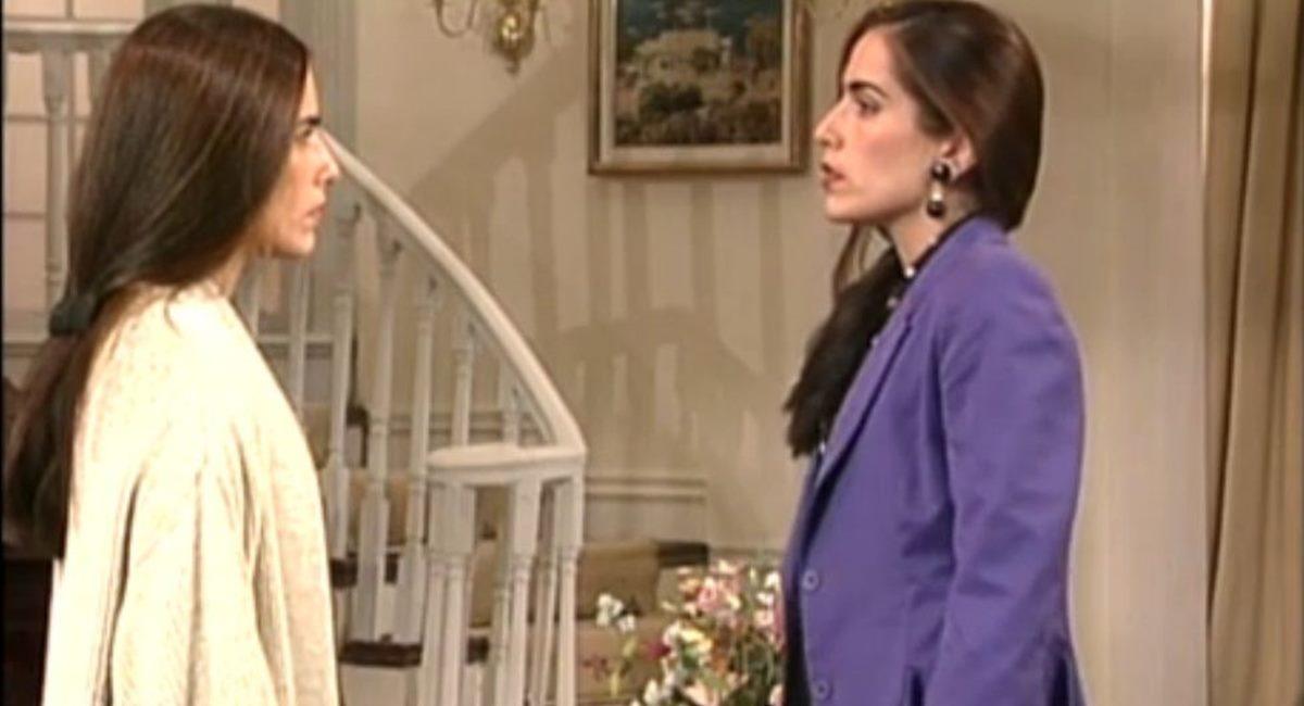 Gloria Pires como as gêmeas Ruth e Raquel na novela Mulheres de areia