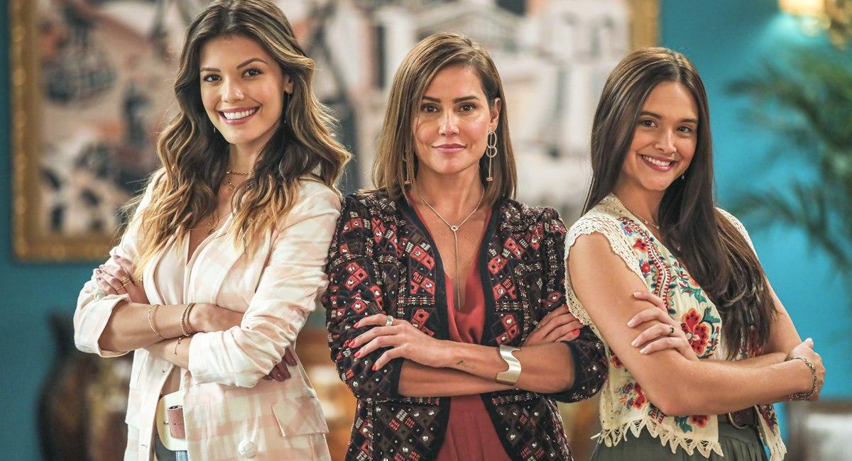 Protagonistas de Salve-se quem puder: Kyra, Alexia e Luna